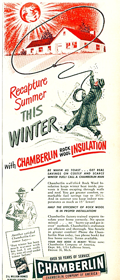 1948 -  Chamberlin rock wool insulation ad (Image1)