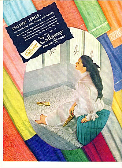 1948 - Callaway Towels And Rugs Ad