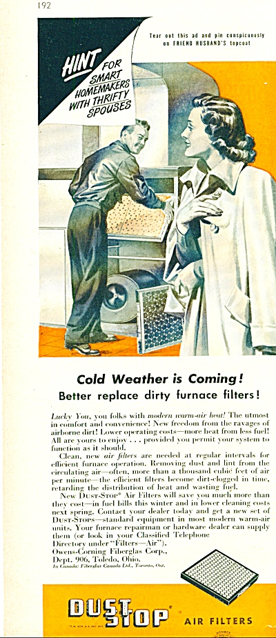 1948 -  Dust stop air filters ad (Image1)