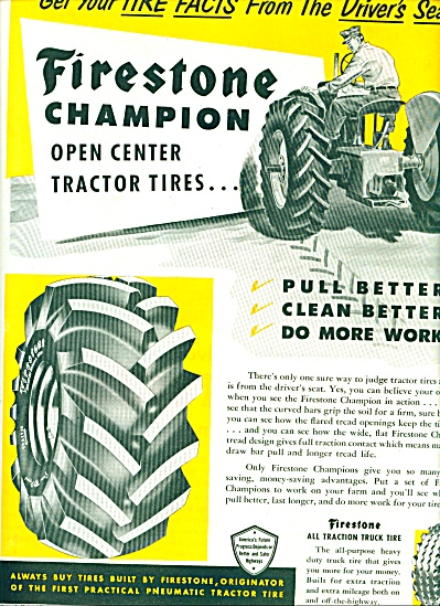 1952 - Firestone All Traction Truck Tire Ad