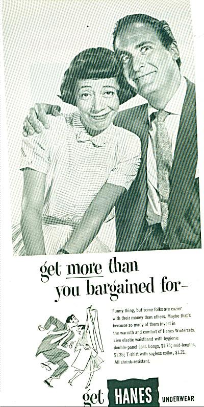 1952 -  Hanes underwear - SID CAESAR (Image1)