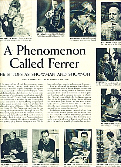 1952 - A Phenomenon called JOSE FERRER (Image1)