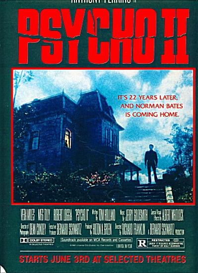 1983 -  Movie:  PSYCHO II - ANTHONY PERKINS (Image1)