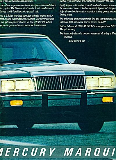 1983 -  Mercury Marquis ad (Image1)