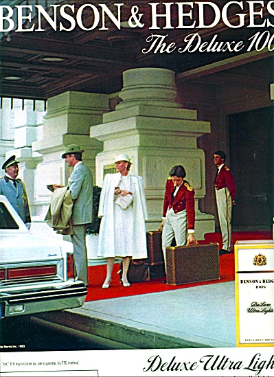 1983 -  Benson & Hedges cigarettes ad (Image1)