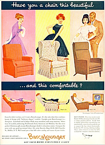 1960 - Barca Lounger Ad