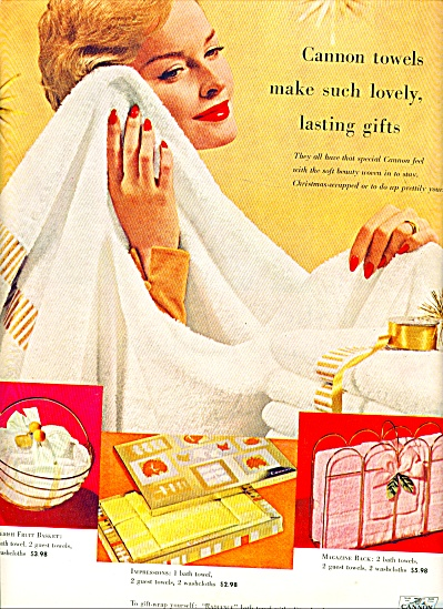 1958 -  Cannon towels ad (Image1)