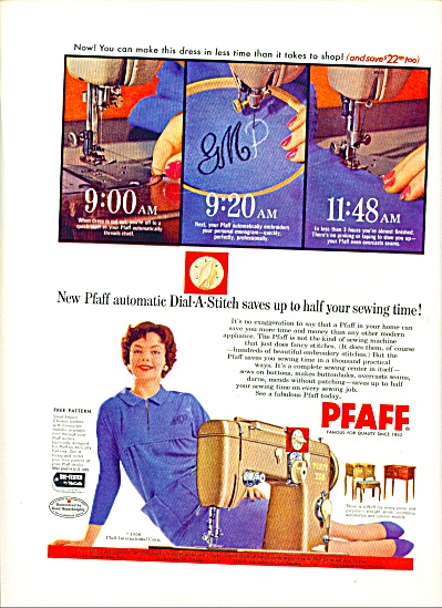 1958 -  Pfaff sewing machine ad. (Image1)