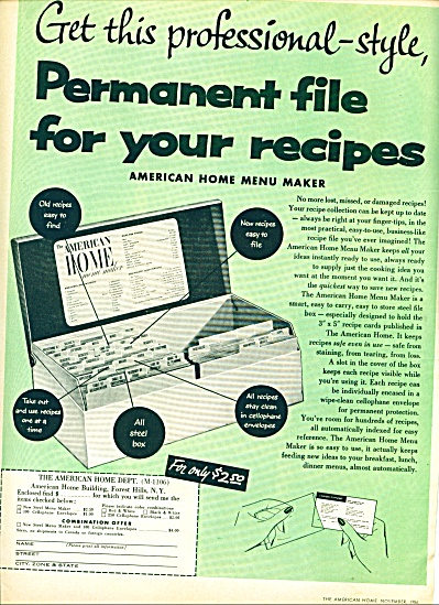 1956 -American Home Menu maker ad (Image1)