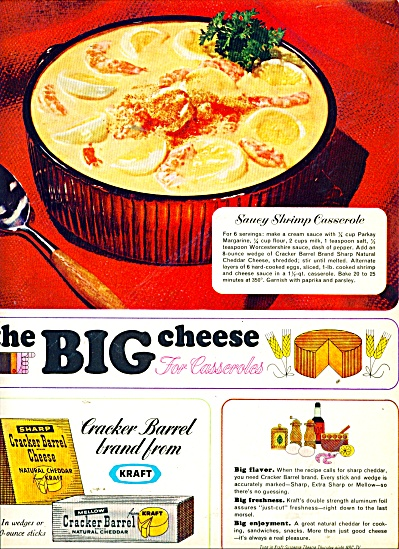 Kraft cracker barrel cheese ad 1965 (Image1)