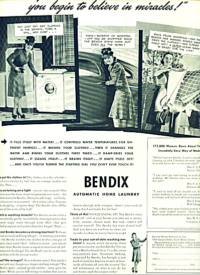 1941 -  Bendix automatic home laundry ad (Image1)
