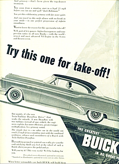 1953 - Buick Automobile Ad