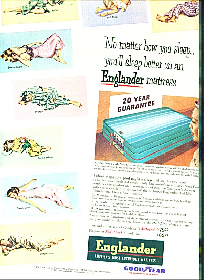 1953 -  Englander mattress by Good Year (Image1)