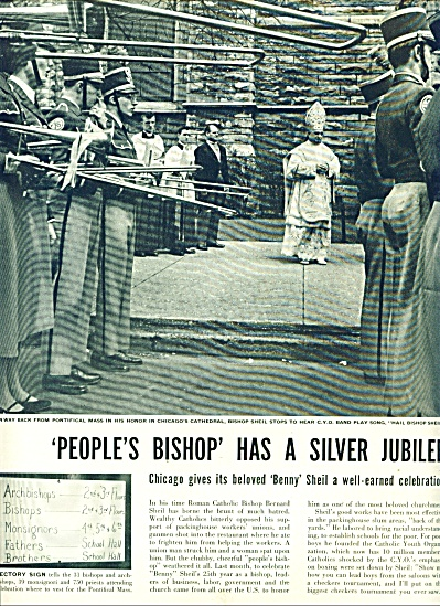 1953 -  Bishop Bernard Sheil has Silver Jubil (Image1)