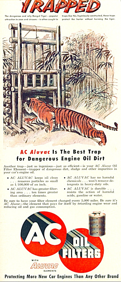 1953 - Ac Oil Filters Ad