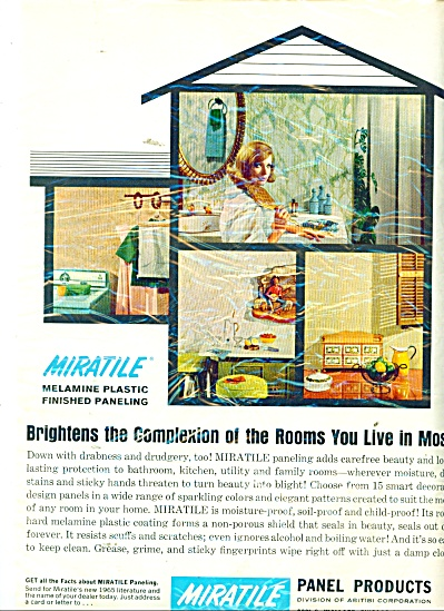 Miratile panel products ad 1965 (Image1)