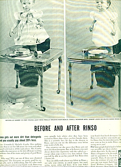 1953 -  Rinso clothes detergent ad (Image1)