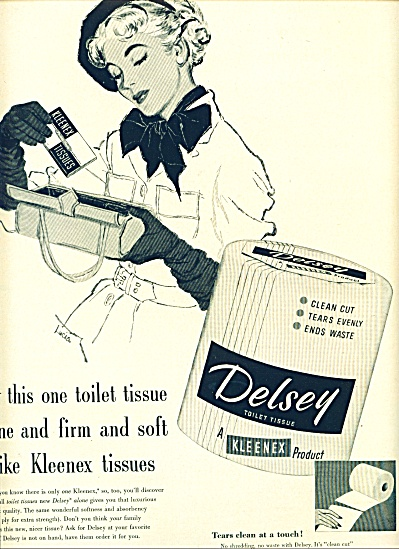 1953 - Delsey tissues - Kleenex product (Image1)