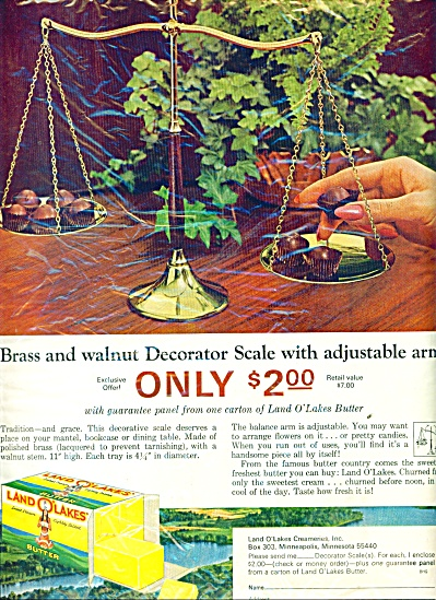 Land O'Lakes butter  ad 1965 (Image1)