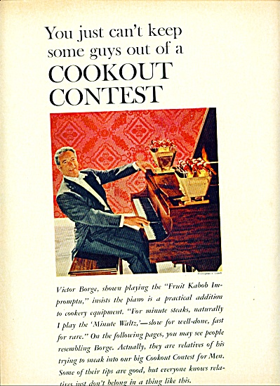 1961 -  VICTOR BORGE  - Cookout contest (Image1)
