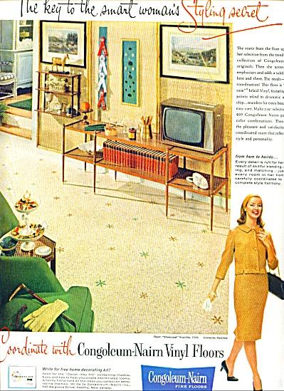1961 - Congoleum-Nairn fine floors ad (Image1)