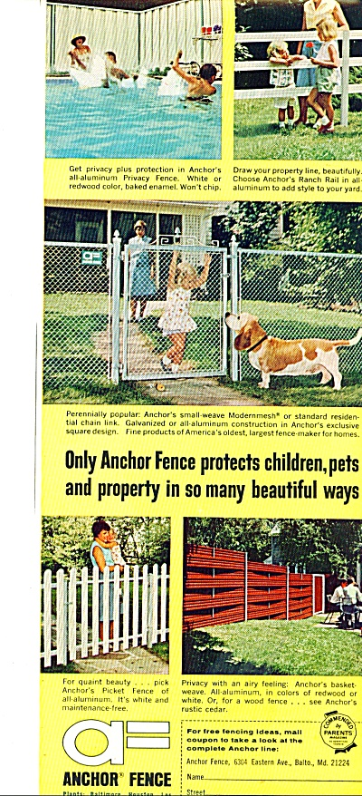 Anchor Fence ad 1965 (Image1)