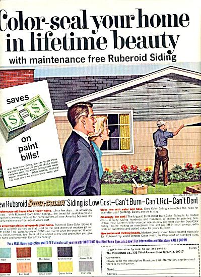 1950 Ruberoid Asbestos Vitramic Siding Ad