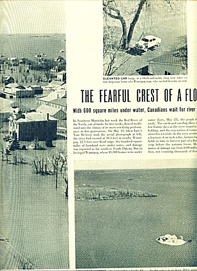 1950 -  The fearful crest of a flood. (Image1)