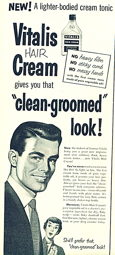 1950 -  Vitalis hair cream ad (Image1)
