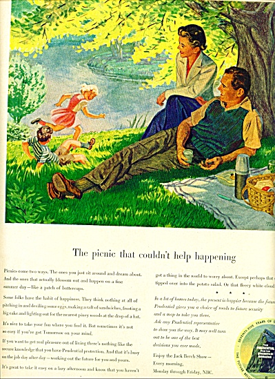 1950 -  The Prudential Insurance Company ad (Image1)