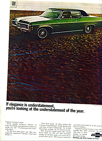 1969 -  Chevrolet Impala custom coupe ad (Image1)