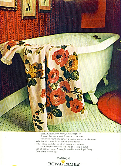 1968 -  Cannon royal family towels Ad (Image1)