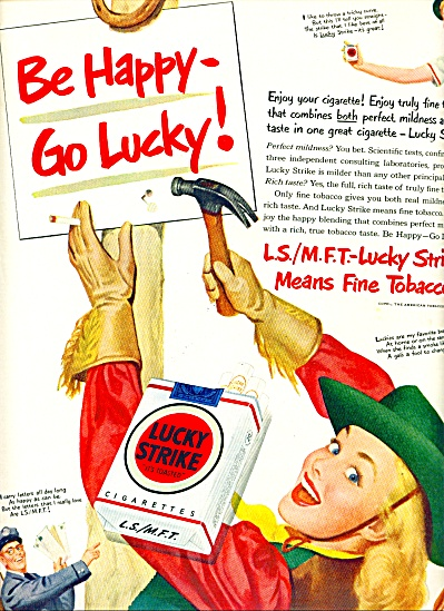 1950 -  Lucky Strike ad (Image1)