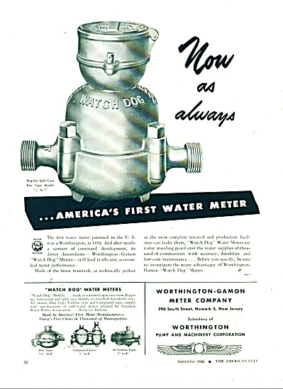 Worthington Gamon Meter Company ad 1946 (Image1)