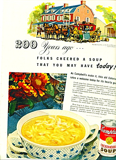 1949 - Campbell's chicken noodle soup. (Image1)