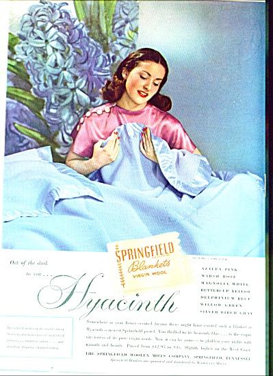 1947 -  Springfield blankets virgin wool ad (Image1)