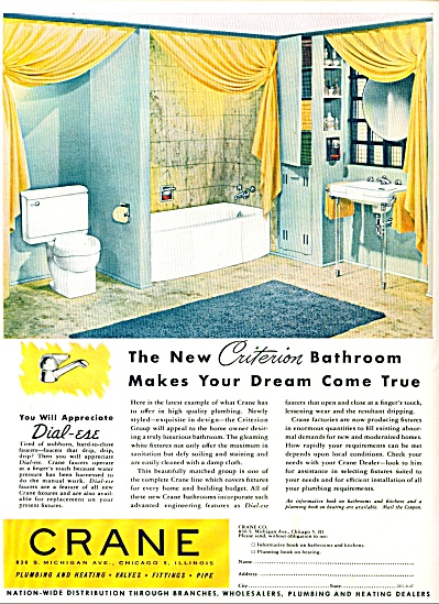 1947 - Crane plumbing and heating ad (Image1)