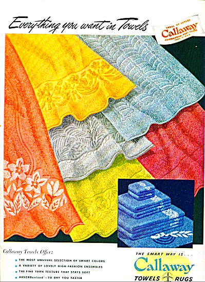 1947 - Callaway Towels And Rugs Ad