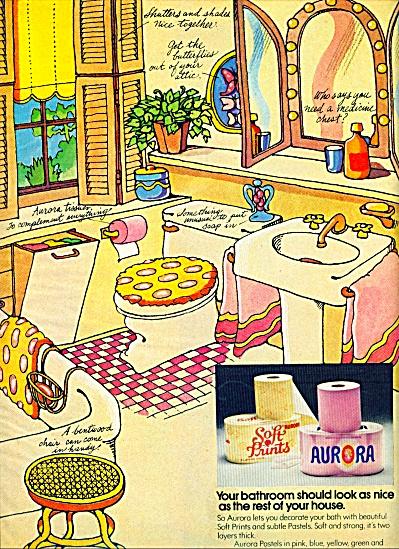1972 -  Aurora bathroom  paper ad (Image1)