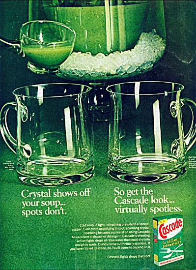 1972 -  Cascade for automatic dishwashers ad (Image1)