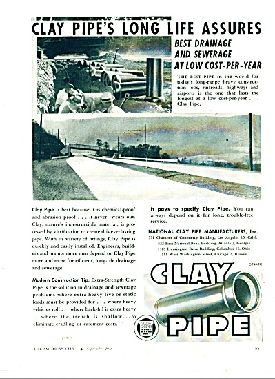 Clay Pipe Manufacturers ad 1946 (Image1)