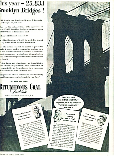 1944 -  Bituminous coal institute ad (Image1)