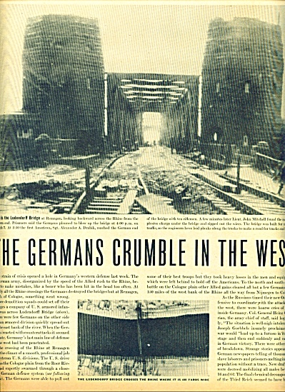 1945 -  WWI I =Germans crumble in west (Image1)