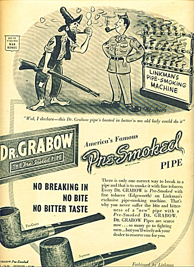 1945 -  Dr. Grabow - the pre smoked pipe ad (Image1)