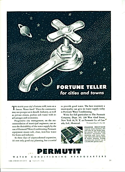 Perrmutit Water conditioning ad 1946 (Image1)