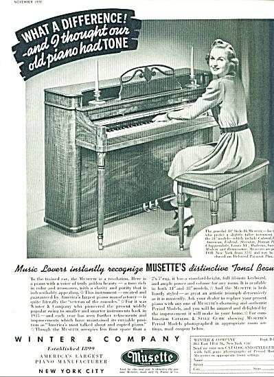 1939 - Winter & Company Musette ad (Image1)