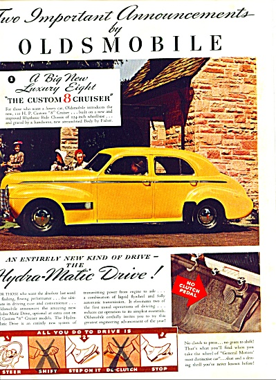 1939 - Oldsmobile Custom 8 Cruiser Ad