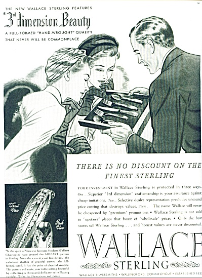 1939 - Wallace Sterling Ad