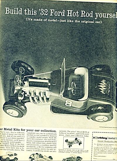 1960 -  Hubley metal kits ad (Image1)