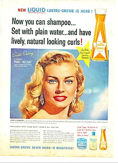 1958 -  Lustre Creme shampoo-ANITA EKBERG (Image1)